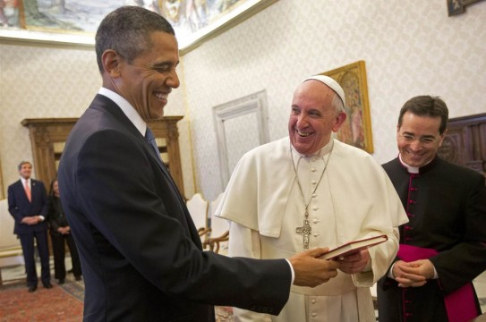 Pope Francis Obama